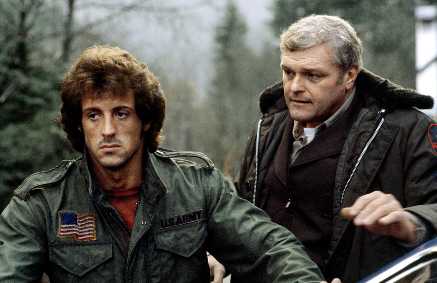 Sylvester Stallone with Brian Dennehy