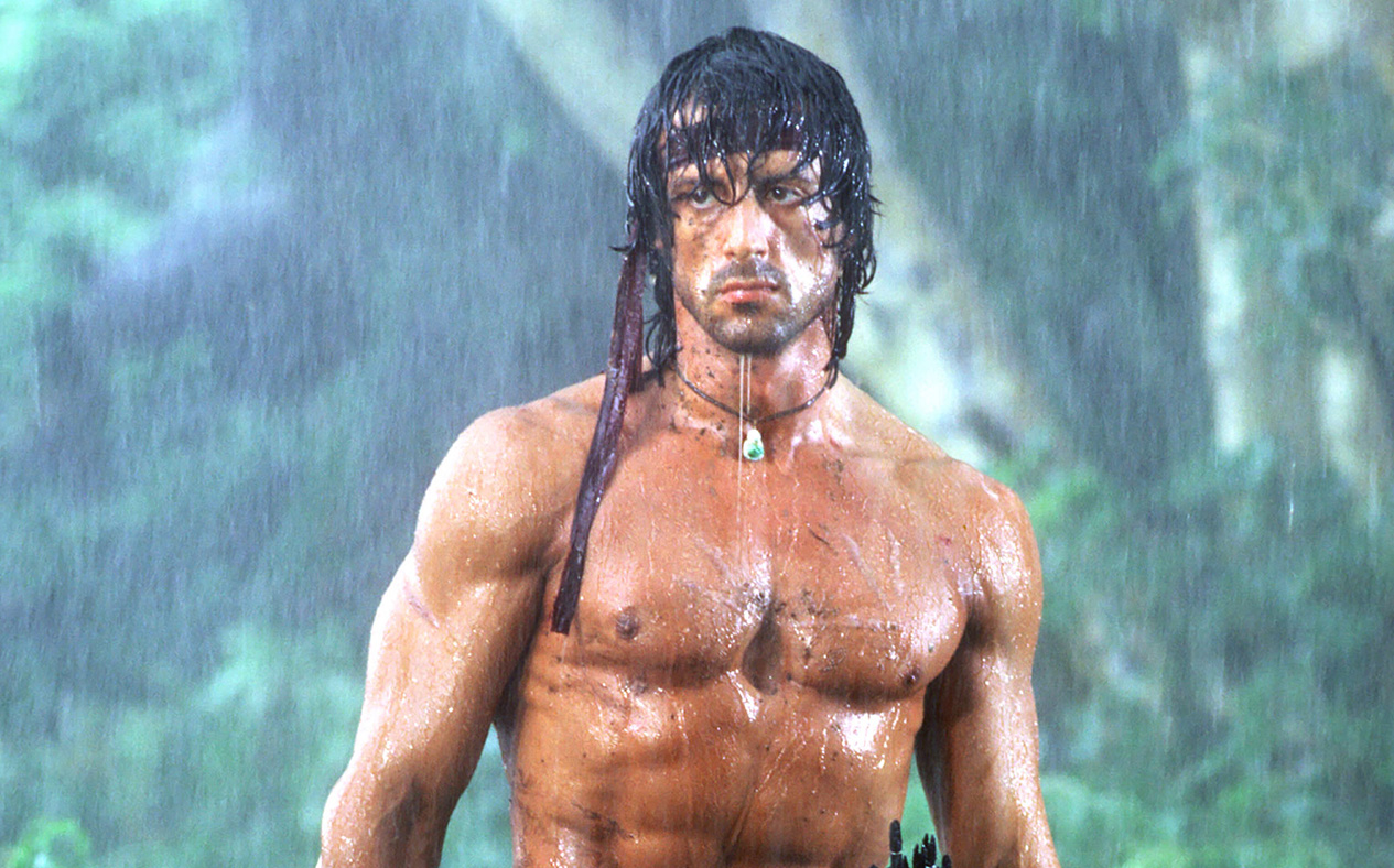 Sylvester Stallone in First Blood Part II