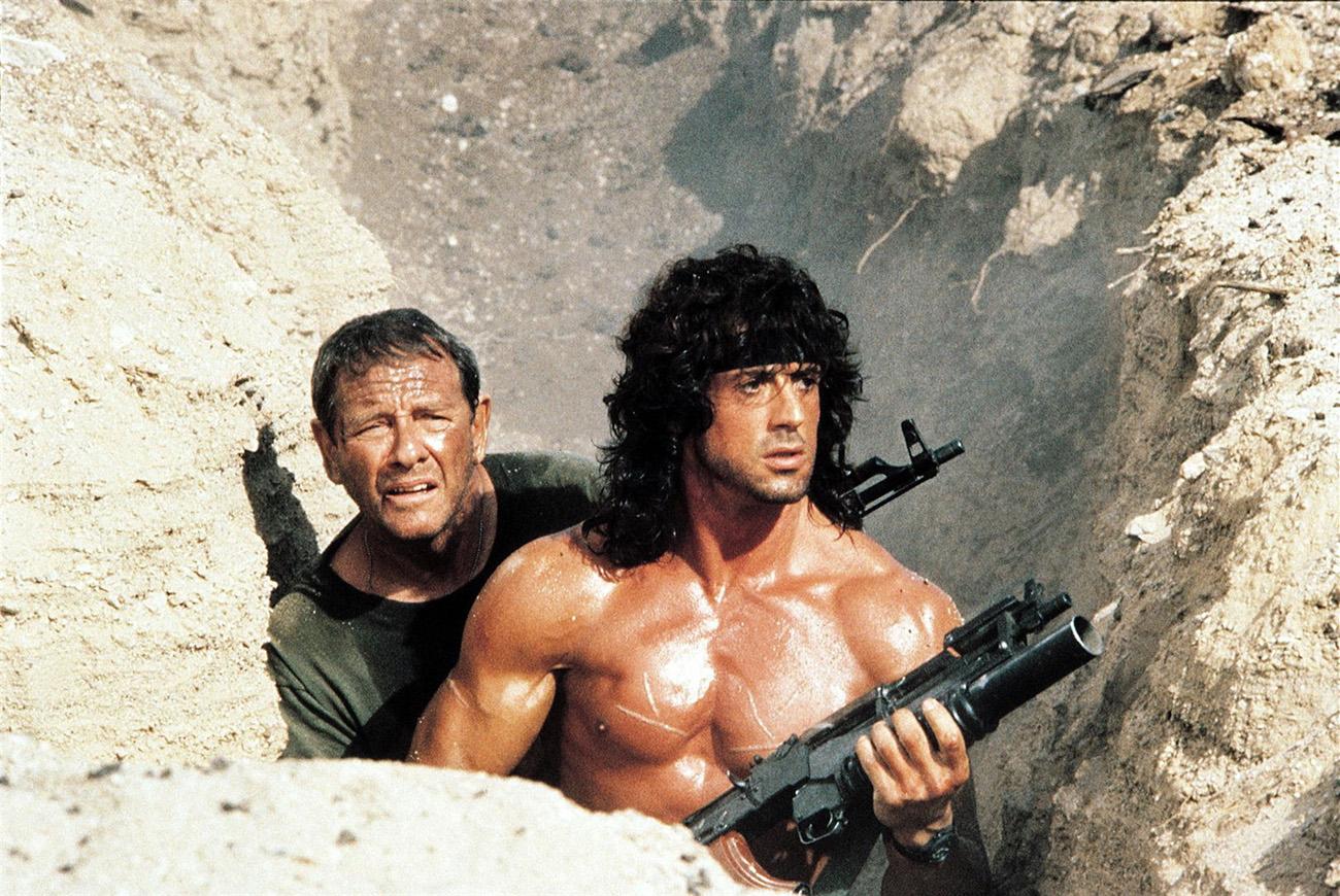 Sylvester Stallone and Richard Crenna