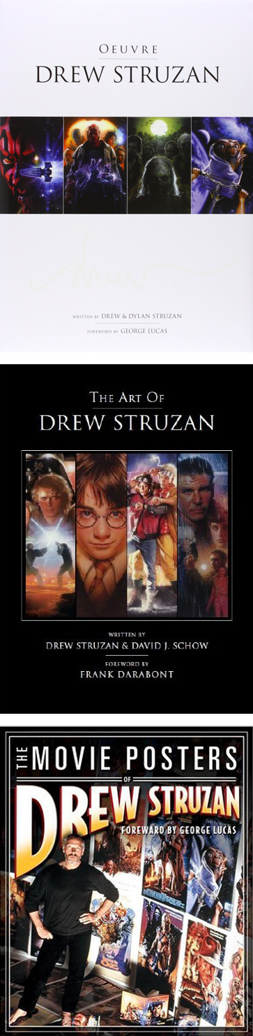 Drew Struzan Bücher, von oben: Oeuvre, The Art of Drew Struzan, The Movie Posters