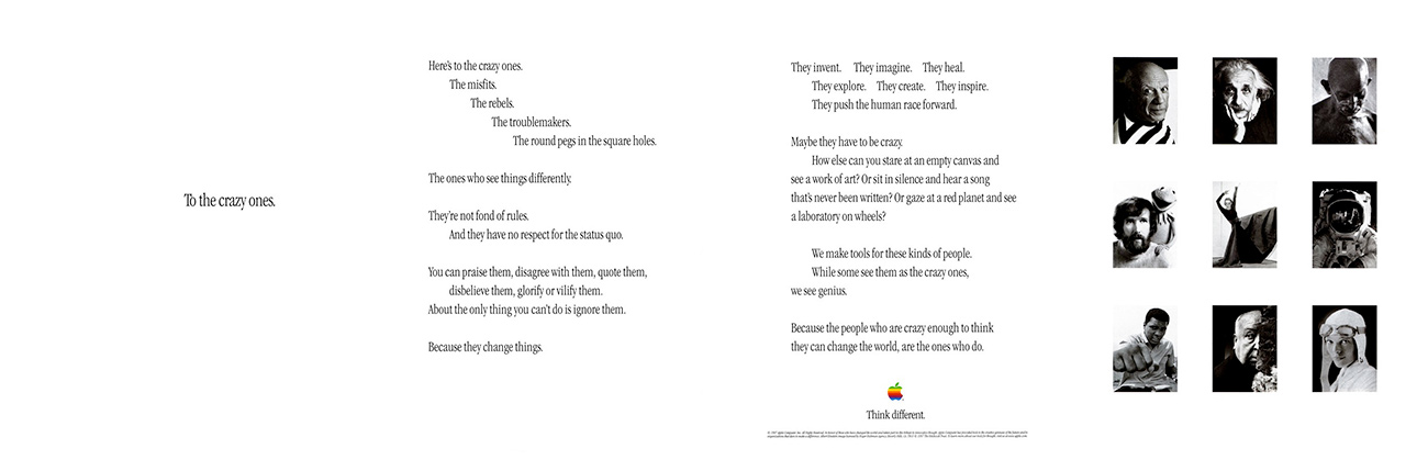 Apple's official and detailed press release on the 1997 Think Difference campaign.