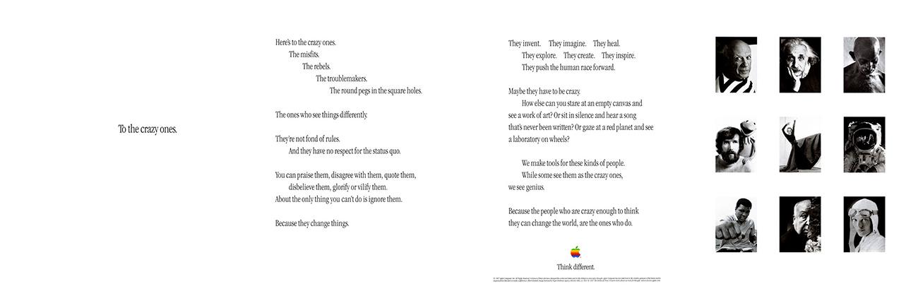 Die offizielle und ausführliche Pressemitteilung von Apple zur Think-Different-Kampagne 1997.