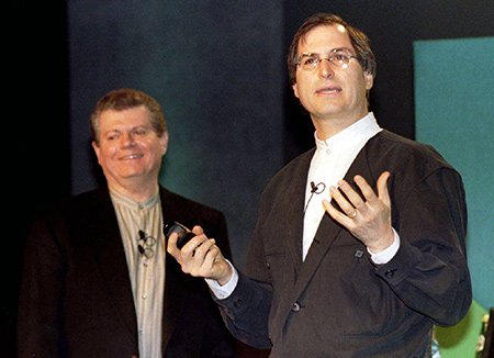 Gil Amelio (left) was fired shortly after Jobs' return to Apple.