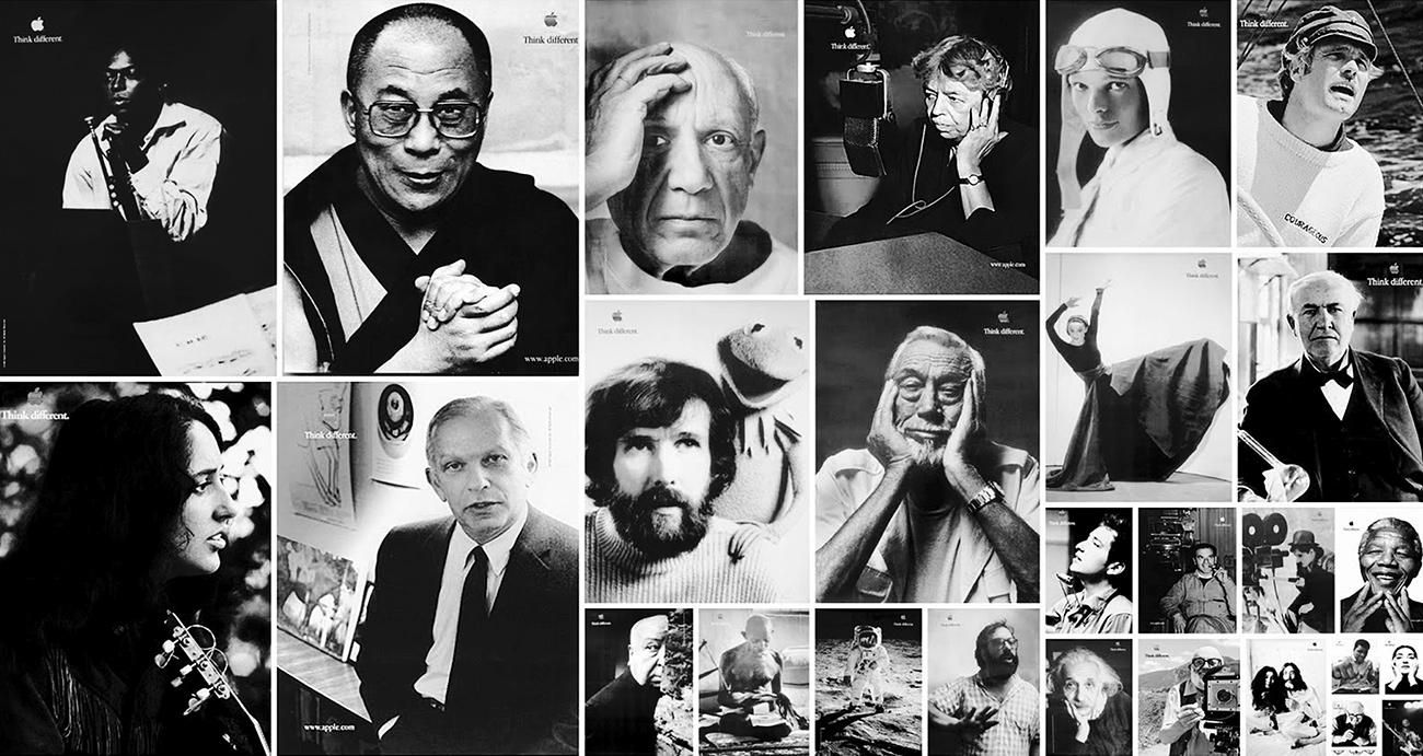 Viele Künstler, Wissenschaftler und Visionäre waren Teil der Print-Kampagne.